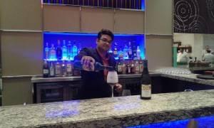 The bar at MoMo Café at Courtyard by Marriott Pune Chakan