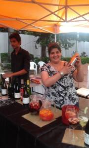 Nupur Joshi, Bar and Beverage Consultant, at the Myra stall creating refreshing wine cocktails