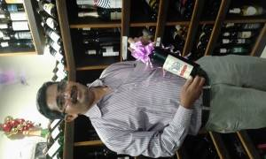 Winemaker Rajesh Rasal with a bottle of Reisha Grand Cru Cabernet Sauvignon Shiraz Reserve