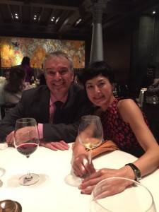 Etienne & Kaoru Hugel at a dinner in Chennai, India