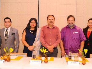 L-R, Rifaquat Ali Khan Mirza, Sonal Holland, Subhash Arora, Sourish Bhattacharyya, Kriti Malhotra