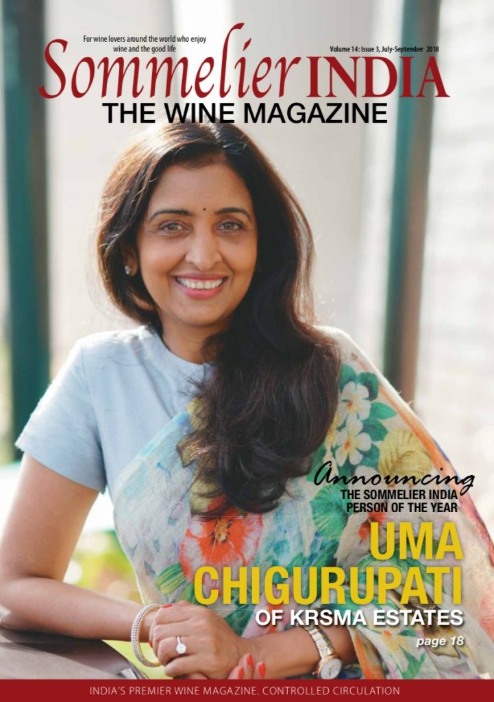 Sommelier India July/August Cover