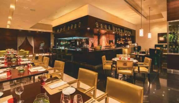 Interior of Ottimo, Italian speciality restaurant at ITC Gardenia Bangalore